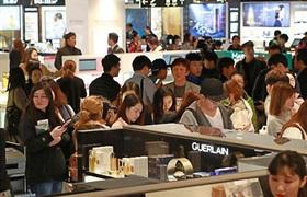 韩国免税店2月销售额再创新高 为1.7415万亿韩元