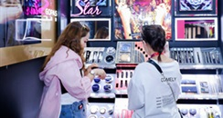 化妆品专柜暂停试妆服务